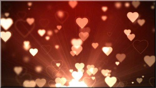 футаж- Фоновая видео заставка с сердцами HD