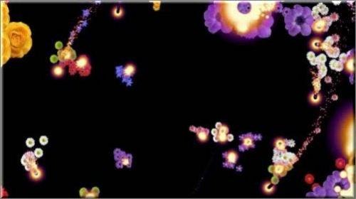 Футаж - Огоньки с цветами с альфа каналом