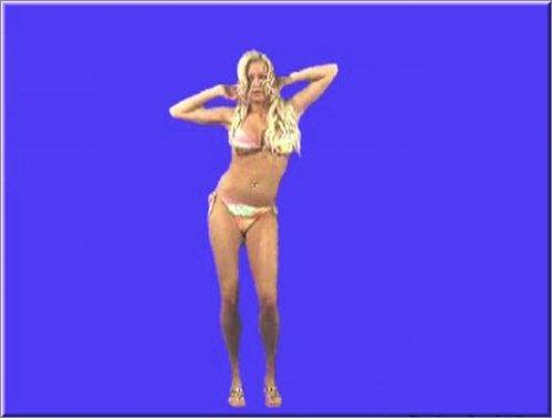 футаж - Девушка танцующая  стриптиз на хромакее