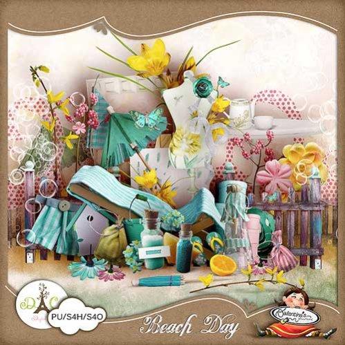 Морской скрап-набор - Пляжный день