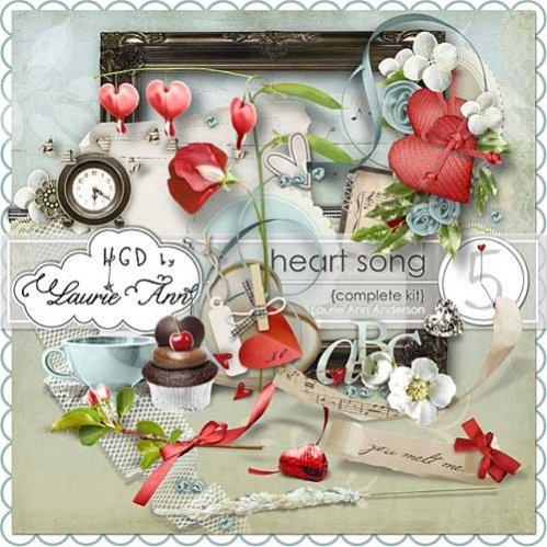 Романтический скрап-набор - Сердце поёт