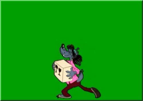 футаж-на хромакее Волк