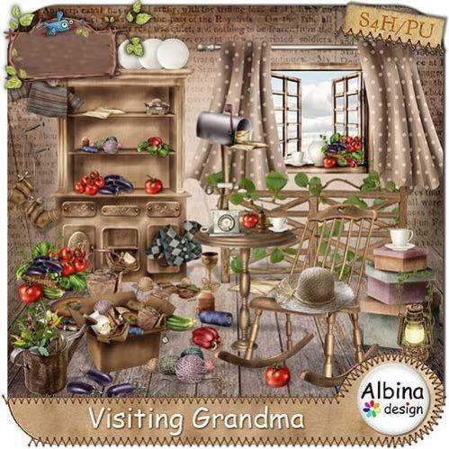 Детский скрап-набор - В гостях у бабушки