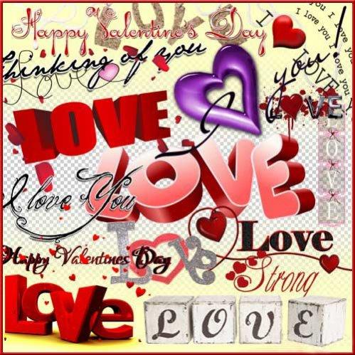 Романтический скрап-набор - Напиши люблю тебя