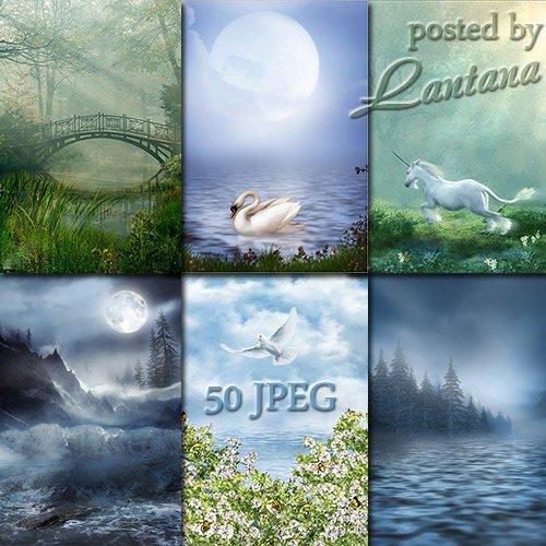Фантазийные фоны для фотошопа - Ранняя весна, талая вода