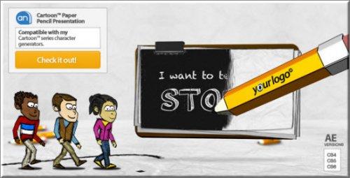 Videohive - Cartoon Paper Pencil Presentation