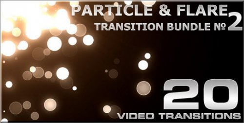 Footages Particle & Flare Transition Bundle 2