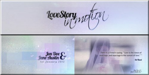Videohive After Effects Project - Love Story - In Motion