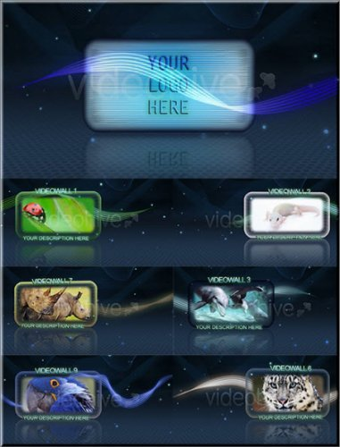 Videohive GLASS VIDEOWALLS After Effects Project