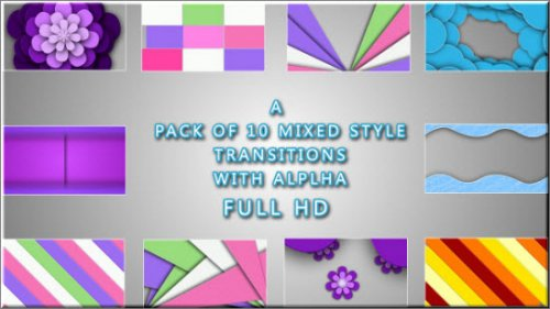 VideoHive 10 Clean Transition Pack (Motion Graphics)