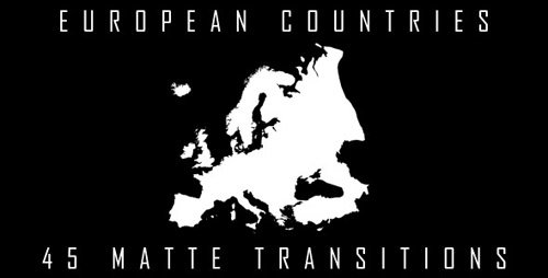 VideoHive European Countries Matte Transitions (Motion Graphics)