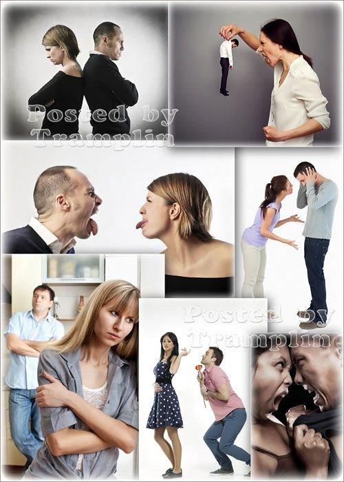Эмоции, ссора, семья - Фото клипарт