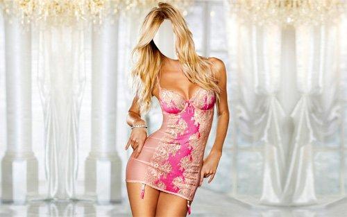 Шаблон для девушек - Девушка в ярком платье
