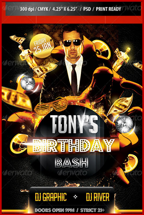 Birthday Bash Party Flyer