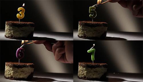 VideoHive Candle 6 In Tiramisu Cake 3 5 6 7 Pack (Motion Grafics)
