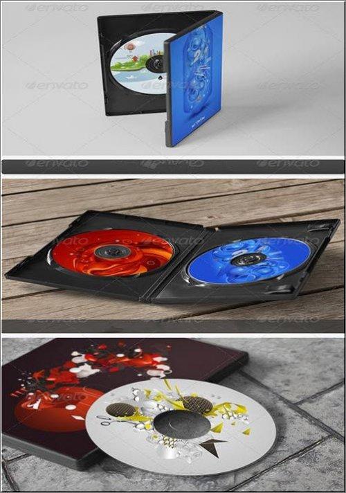 GraphicRiver - CD / DVD дисков и обложки Макеты