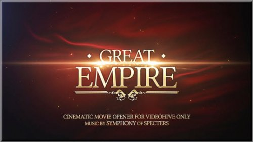 After Effects Project Videohive -  Great Empire Opener