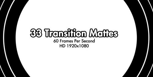 VideoHive 33 HD Transition Mattes 60fps (Motion Grafics)