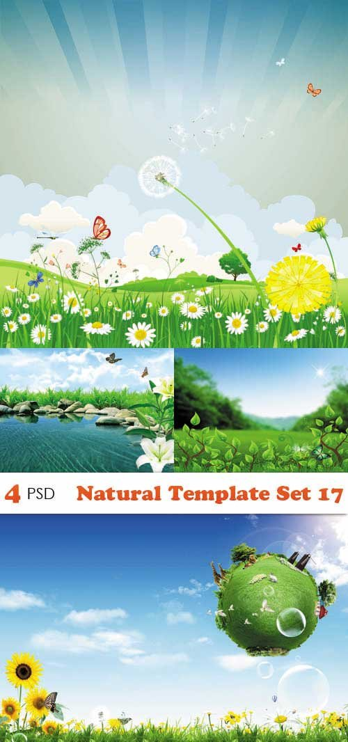 PSD исходники - Natural Template Set 17