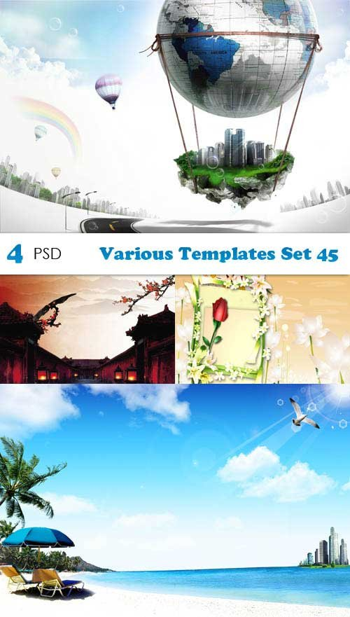 PSD исходники - Various Templates Set 45