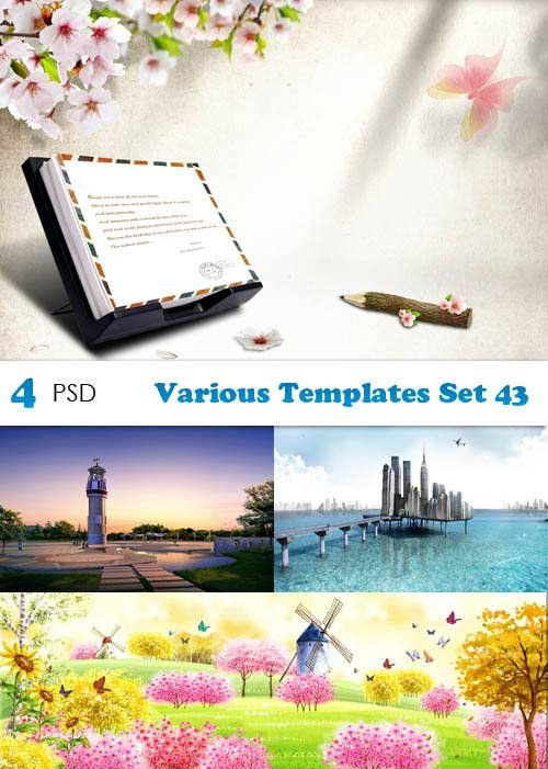 PSD исходники - Various Templates Set 43