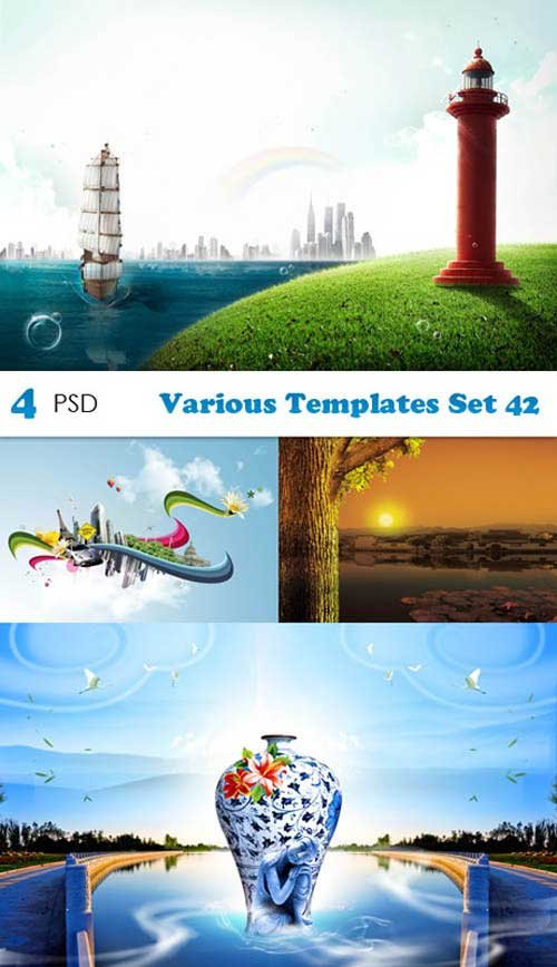 PSD исходники - Various Templates Set 42