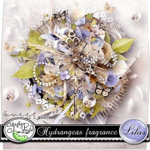 Романтический винтажный скрап-комплект - Аромат гортензии