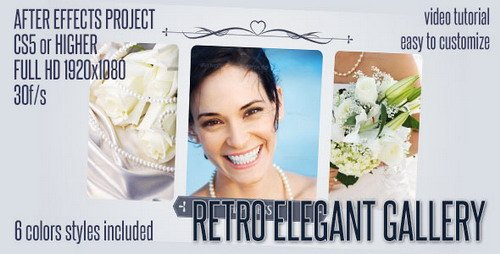 Elegant Retro Gallery - Project for After Effects (Videohive)