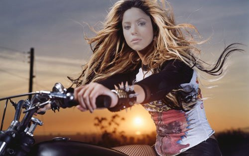 Шаблон для девушек - Поездка на мотоцикле на закате солнца
