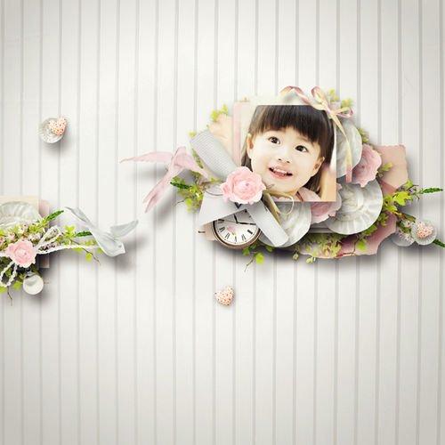 Нежный детский скрап-комплект - С удовольствием
