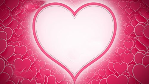 Футаж - фон сердца