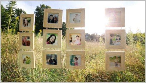 Videohive - Hanging Wood Frames Gallery
