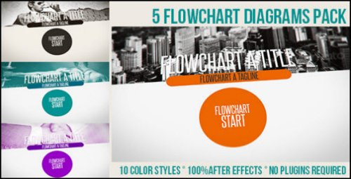 After Effects Project - Flowchart Diagrams Pack