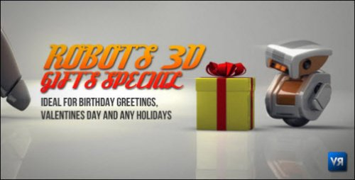 After Effects Project - Robots 3D gifts special