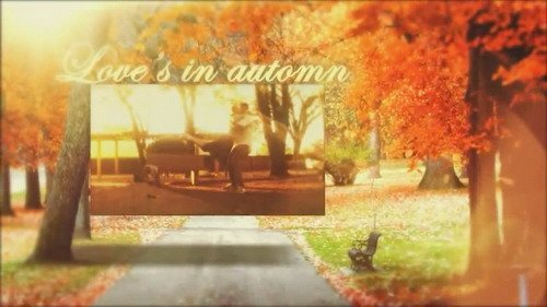 Love's in automn - Project for After Effects