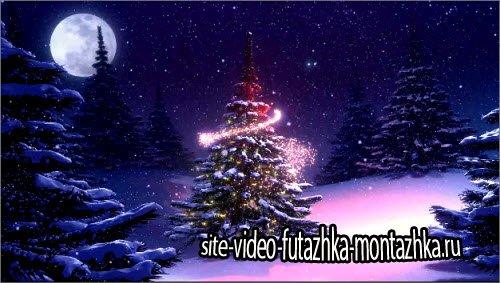 футаж Новогодняя видео заставка HD