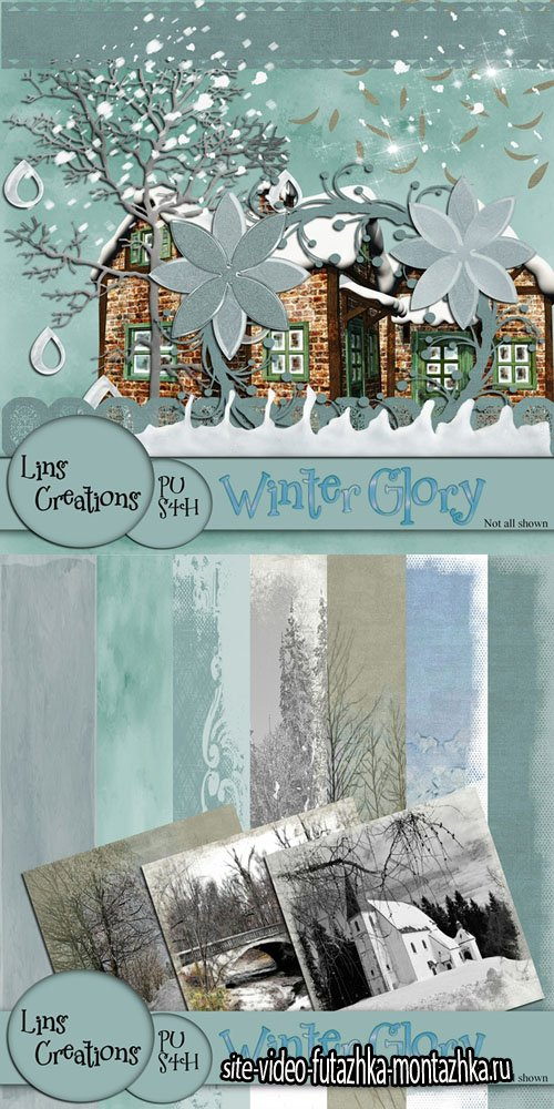 Scrap Set - Winter Glory PNG and JPG Files