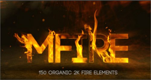 motionVFX - mFire: 150 Organic 2K fire elements (H.264 version )