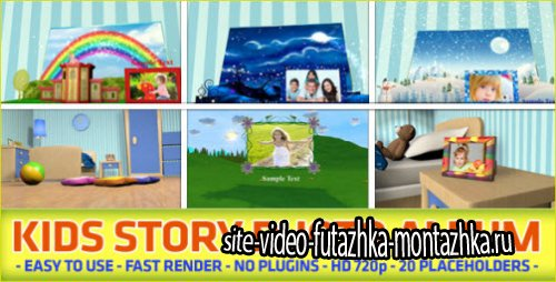 After Effects Project - Kids Story Photo Album