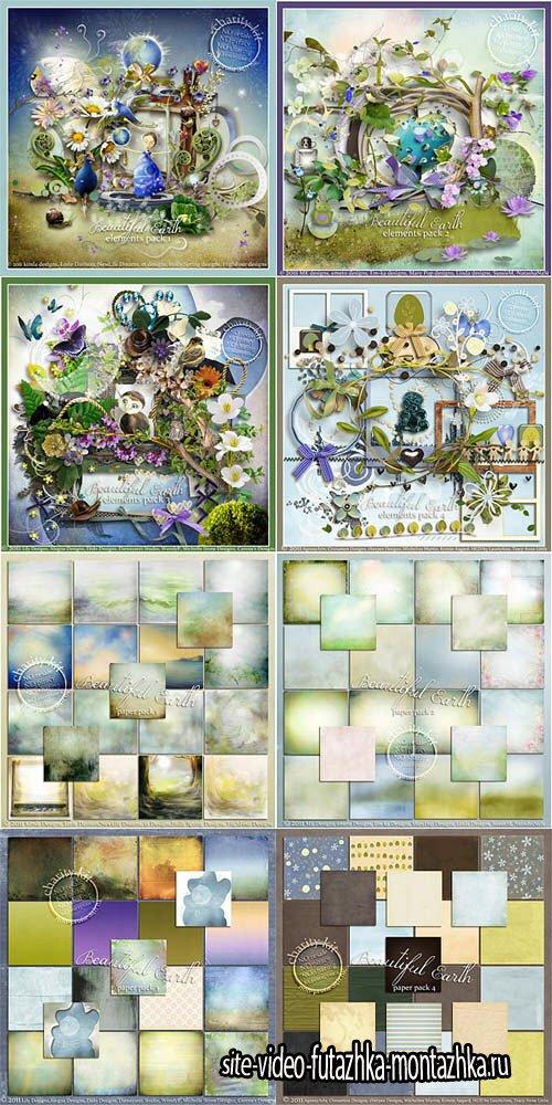 Scrap Set - Beautiful Earth PNG and JPG Files
