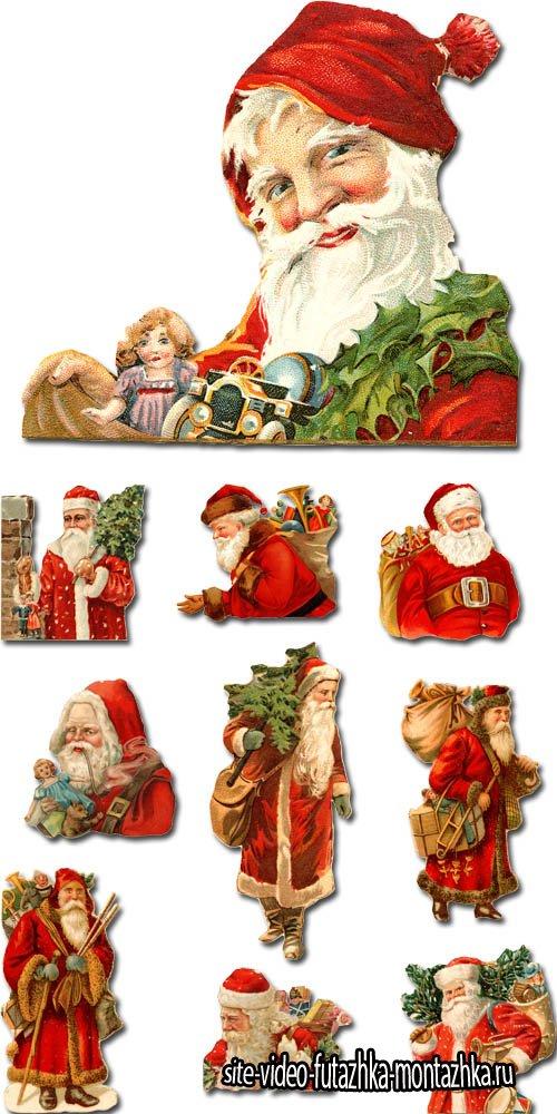 Санта-Клаус на прозрачном фоне