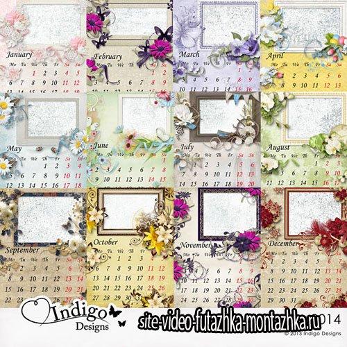Calendar 2014 PNG Files