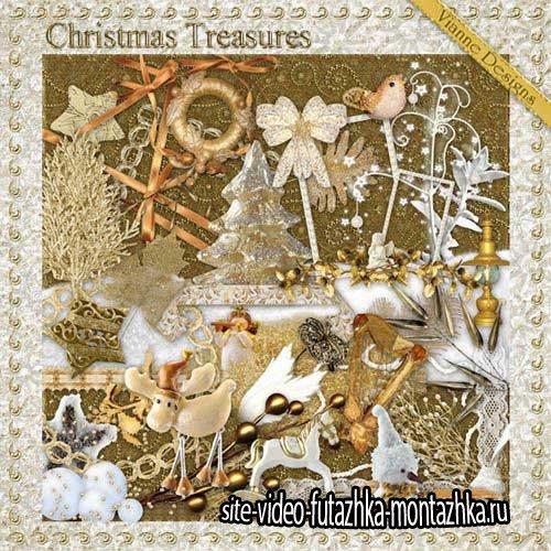 Рождественский праздничный скрап-комплект - Рождественские сокровища
