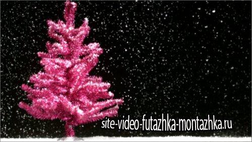 футаж-Новогодняя видео заставка HD