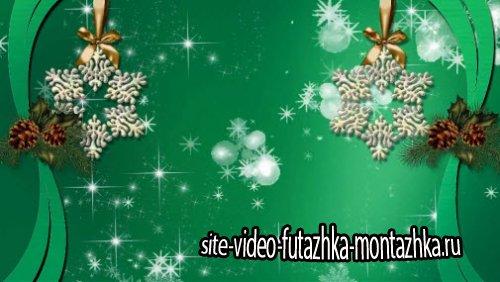 футаж - Новогодняя фоновая заставка