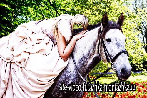 Psd для фотомонтажа - Прогулка на лошади
