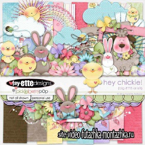 Digital scrapbooking kit - Hey Chickie!