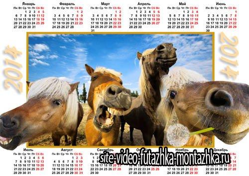 Календарь - Ржачные 4 коня