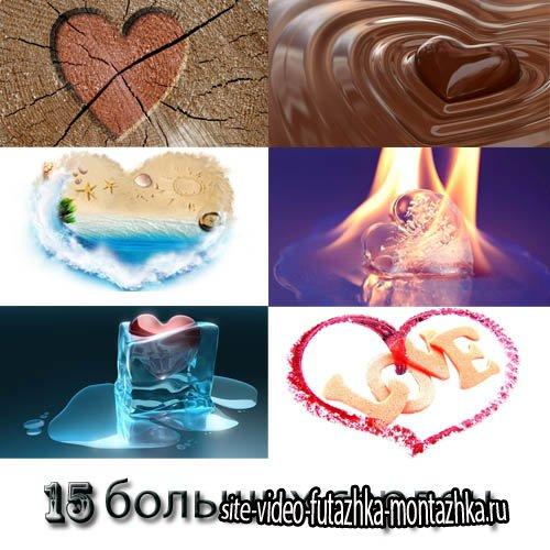 Фоны для фотографий - 15 жарких сердечек