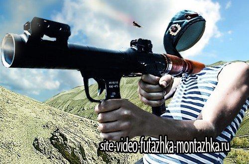 Фотошаблон photoshop - С базуки в цель